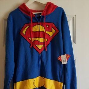 💎 Superman jacket hoodie full zip down. NWT